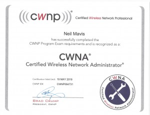 CWNP- CWNA Certified Wireless Network Professional Certification -Neil Mavis